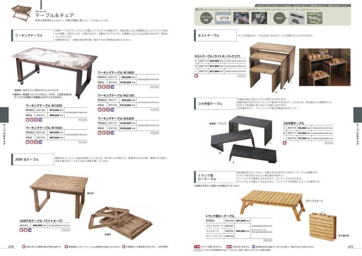 p070-071 テーブル&チェア